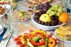 Food on the holiday table Stock Image