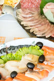 food on the holiday table Royalty Free Stock Images
