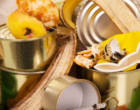 Food and household waste for recycling closeup. Stock Photography