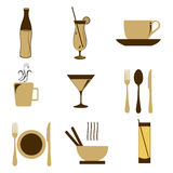 Food icon. Illustration of food icon on isolated background Stock Photos