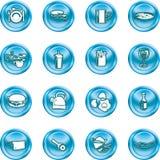 Food Icon Button Series Set Stock Photos
