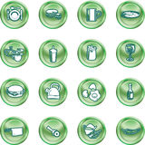 Food Icon Button Series Set Royalty Free Stock Photo