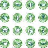 Food Icon Button Series Set Royalty Free Stock Photo