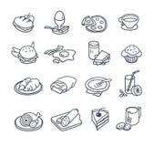 Food Icon Collection Stock Photos