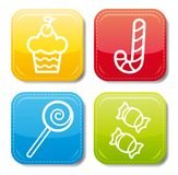 Food icon color set Stock Photography
