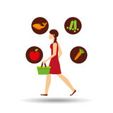 Food icon design Royalty Free Stock Photography