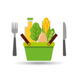 Food icon design Royalty Free Stock Images