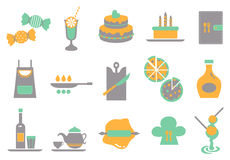 Food icon_Green Stock Image