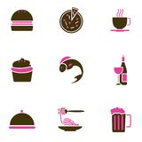 Food icon set. Set of food icon vector Royalty Free Stock Image