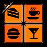Food icon set Royalty Free Stock Image