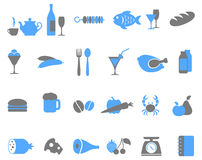 Food icon set. Stock Photo