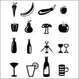 Food icon set Royalty Free Stock Photography