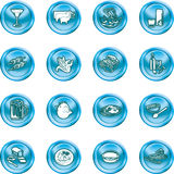Food Icon Set. A set of food and drink icons. No meshes used Stock Photo