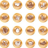 Food Icon Set. A set of food and drink icons. No meshes used Stock Photos