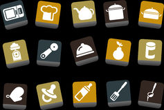 Food icon set royalty free illustration