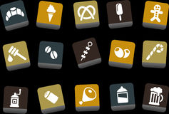 Food icon set royalty free illustration