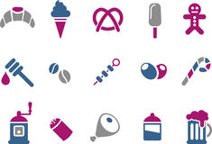 Food icon set Royalty Free Stock Photos