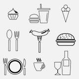 Food icon set. Royalty Free Stock Image