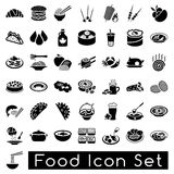 Food icon set Royalty Free Stock Images
