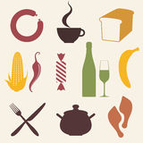 Food. Icon Set Stock Photography