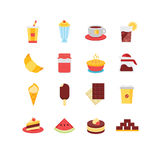 Food Icon Set Stock Image
