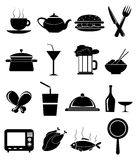 Food icon set Stock Image