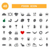 Food icon - set. Stock Photography