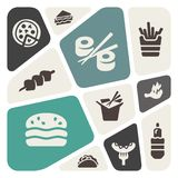 Food Icon Set.  Vector Illustration Stock Photos