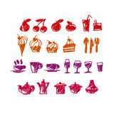 Food icon set vector Royalty Free Stock Photos