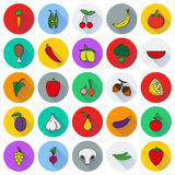 Food Icon set. Vegetables and meat. Food Icon set. Vegetables and meat color icons Created For Mobile, Web, Decor, Print Products, Applications. Icon . Vector Royalty Free Illustration