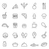 Food icon Vector illustration. Set of Outline stroke Food icon Vector illustration stock illustration