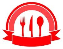 Food icon on white background Stock Photo