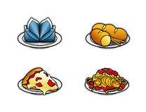 Food icons 1 Stock Images