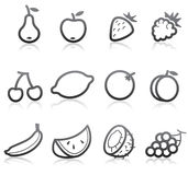 Food Icons. (Fruits) - part 1 royalty free illustration