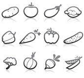 Food Icons. (Vegetable) - part 2 stock illustration