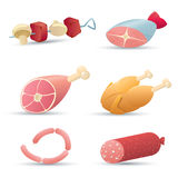 Food icons. (meat). Part 1 royalty free illustration
