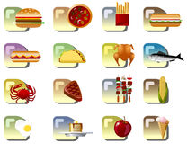 Food Icons. Set of popular food icons Royalty Free Stock Photo