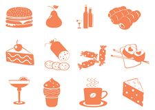 Food Icons. Vector illustration for you design stock illustration