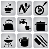 Food_icons Fotos de Stock Royalty Free