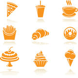Food icons. Set. Vector symbols Royalty Free Stock Images