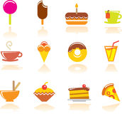 Food icons. Set.  illustration Stock Images