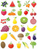 Food icons. Royalty Free Stock Photo