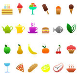 Food icons. Set of food and drink icons vector illustration