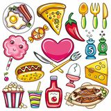 Food icons 2 Stock Photos
