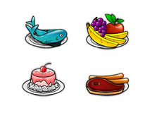 Food icons 2 Stock Photography