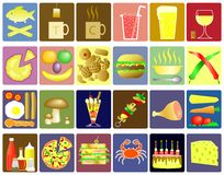 Food icons. Set of editable food and drink vector icons Royalty Free Stock Images