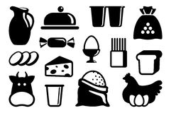 Food icons Stock Photography