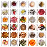 Food icons. 30 various isolated food icons Stock Photography