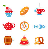 Food icons Stock Photos