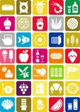 Food icons. Some icons related with food and beverage Royalty Free Stock Image